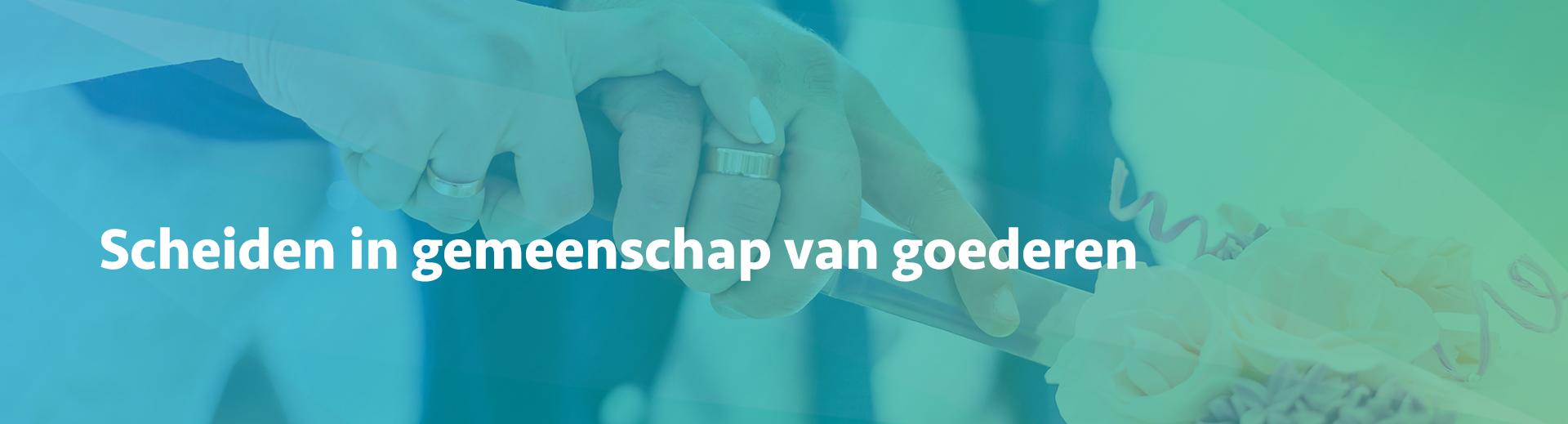 scheiden in gemeenschap van goederen - Scheidingsplanner Midden-Nederland